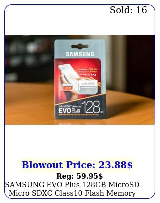 samsung evo plus gb microsd micro sdxc class flash memory card wsd adapte