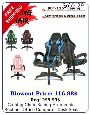 gaming chair racing ergonomic recliner office computer desk seat swivel chai