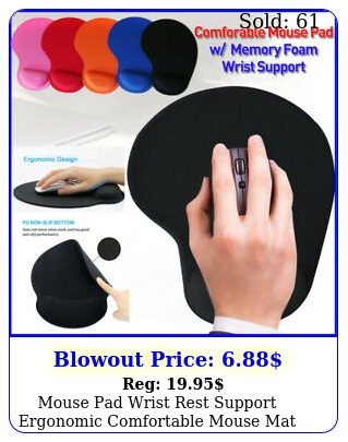 mouse pad wrist rest support ergonomic comfortable mouse mat nonslip mice pa