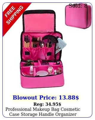 professional makeup bag cosmetic case storage handle organizer travel kit u