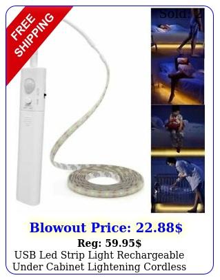 usb led strip light rechargeable under cabinet lightening cordless motion senso