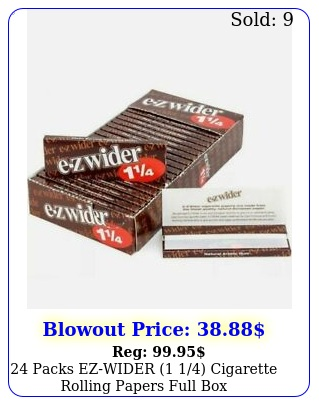 packs ezwider  cigarette rolling papers full bo