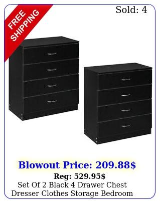 set of black drawer chest dresser clothes storage bedroom furniture cabine
