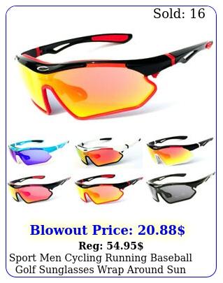 sport men cycling running baseball golf sunglasses wrap around sun shade glasse