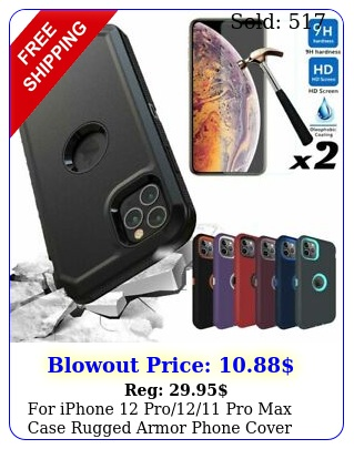 iphone pro pro max case rugged armor phone cover screen protecto