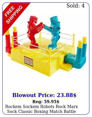 rockem sockem robots rock marx sock classic boxing match battle ring player