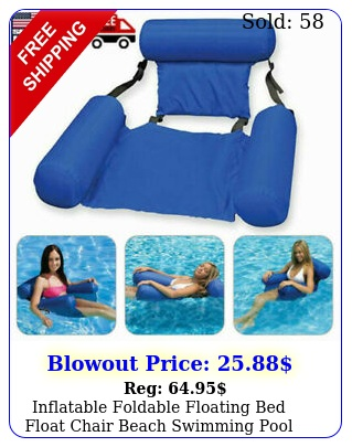 inflatable foldable floating bed float chair beach swimming pool raft water to