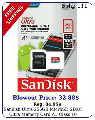sandisk ultra gb microsd sdxc ultra memory card a class mb