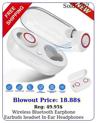 wireless bluetooth earphone earbuds headset inear headphones with charging cas