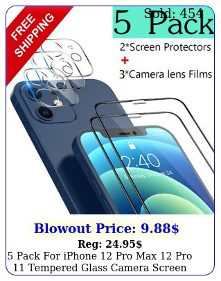 pack iphone pro max pro tempered glass camera screen protecto