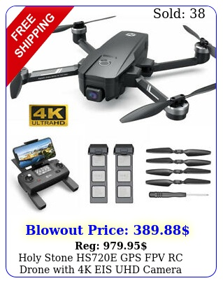 holy stone hse gps fpv rc drone with k eis uhd camera quadcopter brushles