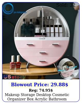 makeup storage desktop cosmetic organizer acrylic bathroom jewelry drawe