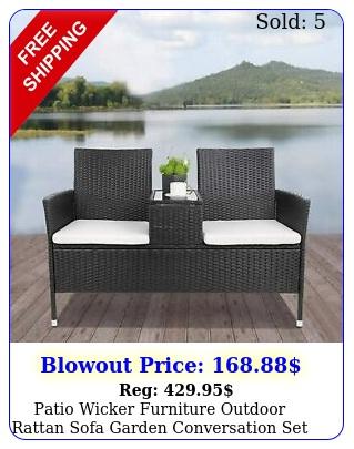 patio wicker furniture outdoor rattan sofa garden conversation se