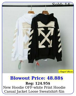 hoodie offwhite print hoodie casual jacket loose sweatshirtxi