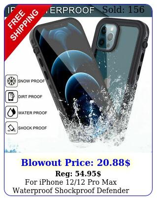 iphone pro max waterproof shockproof defender case w screen protecto