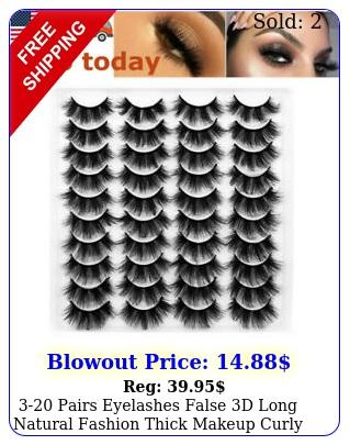 pairs eyelashes false d long natural fashion thick makeup curly eye lashe