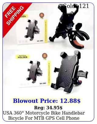 usa motorcycle bike handlebar bicycle mtb gps cell phone holder moun
