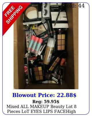 mixed all makeup beauty lot  pieces lot eyes  lips  facehigh end drug stor