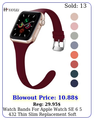 watch bands apple watch se  thin slim replacement soft silicone stra