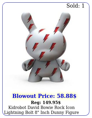 kidrobot david bowie rock icon lightning bolt inch dunny figure in bo