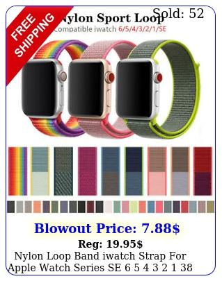 nylon loop band iwatch strap apple watch series se     m