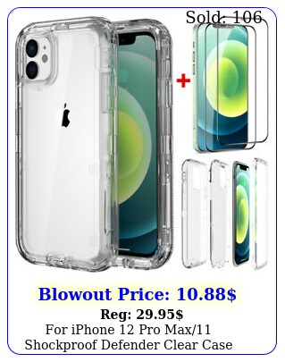 iphone pro max shockproof defender clear case cover  screen protecto