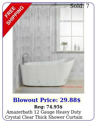 amazerbath gauge heavy duty crystal clear thick shower curtain line