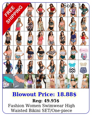 fashion women swimwear high waisted bikini setonepiece swimsuit bathing sui