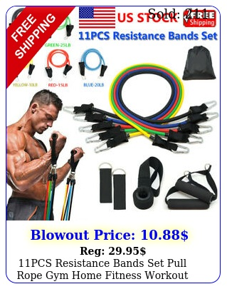 pcs resistance bands set pull rope gym home fitness workout crossfit yoga tub