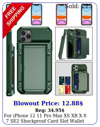 iphone  pro max xs xr x  se shockproof card slot wallet case cove