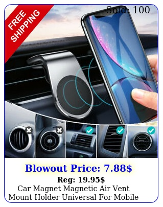car magnet magnetic air vent mount holder universal mobile cell iphone