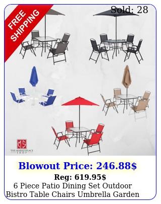piece patio dining set outdoor bistro table chairs umbrella garden furnitur