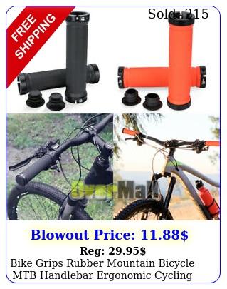 bike grips rubber mountain bicycle mtb handlebar ergonomic cycling lock o