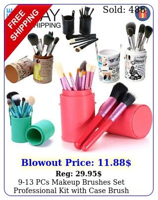 pcs makeup brushes set professional kit with case brush holder travel gif