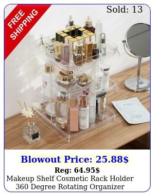 makeup shelf cosmetic rack holder degree rotating organizer storage cas