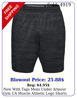 with tags mens under armour gym ua muscle athletic logo short
