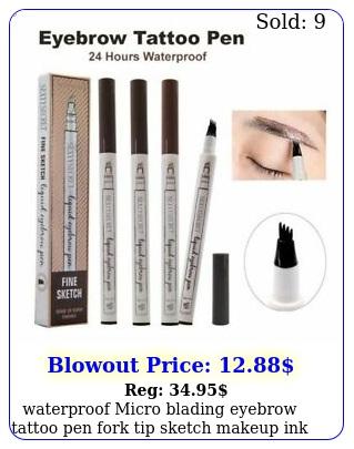 waterproof micro blading eyebrow tattoo pen fork tip sketch makeup ink makeu