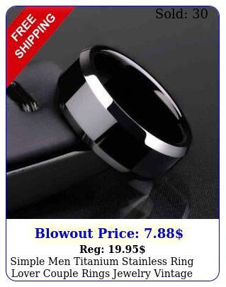 simple men titanium stainless ring lover couple rings jewelry vintage cool ring