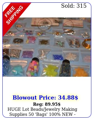 huge lot beadsjewelry making supplies 'bags'  unique lots xtra