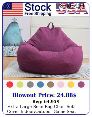 extra large bean bag chair sofa cover indooroutdoor game seat couch lazy bag
