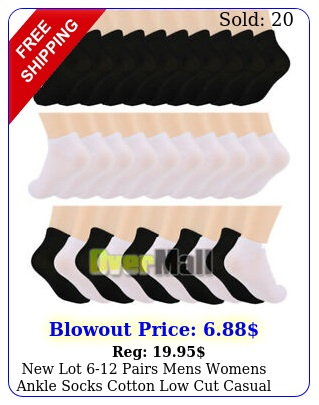 lot pairs mens womens ankle socks cotton low cut casual size us