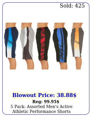 pack assorted men's active athletic performance short