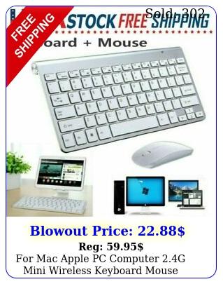 mac apple pc computer g mini wireless keyboard mouse combo set waterproo