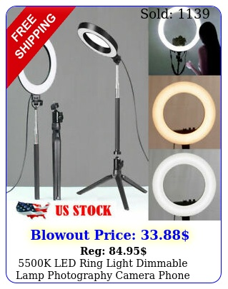 k led ring light dimmable lamp photography camera phone video studio phot