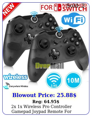 x x wireless pro controller gamepad joypad remote nintendo switch consol
