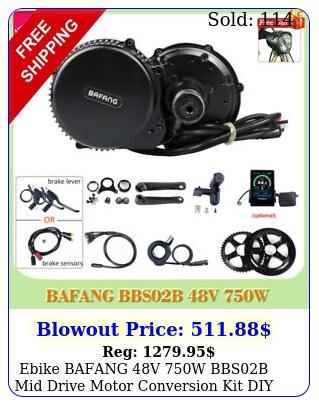 ebike bafang v w bbsb mid drive motor conversion kit diy electric bicycl
