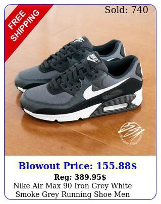 nike air max iron grey white smoke grey running shoe men c