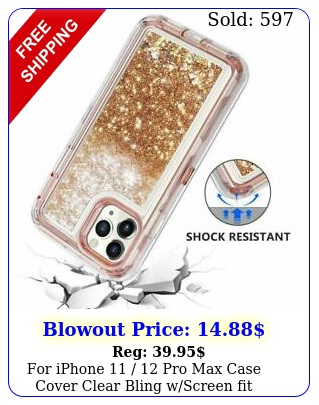 iphone  pro max case cover clear bling wscreen fit otterbox defende