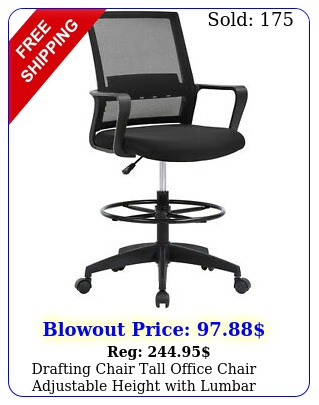 drafting chair tall office chair adjustable height with lumbar support arms foo