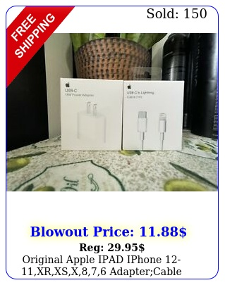 original apple ipad iphone xrxsx adaptercable usbc fast charge